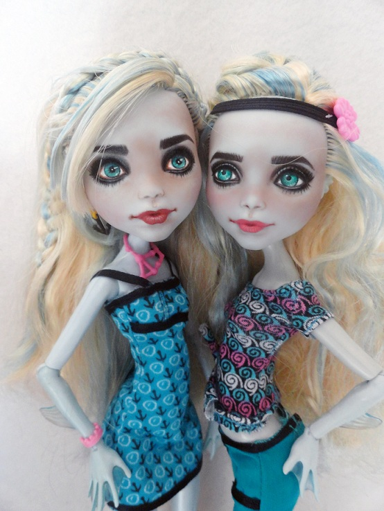 "Details about Monster High Lagoona repaint OOAK "" The Olsen Fins"